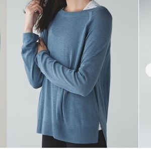 Lululemon post savasana blue pullover sweater 10